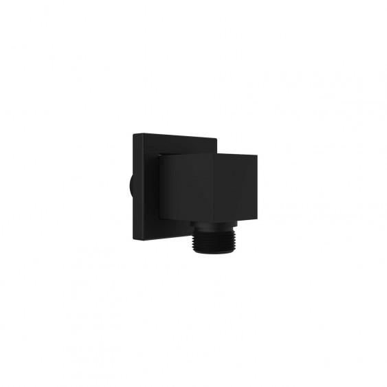 Presa d'acqua ottone nero opaco quadrata