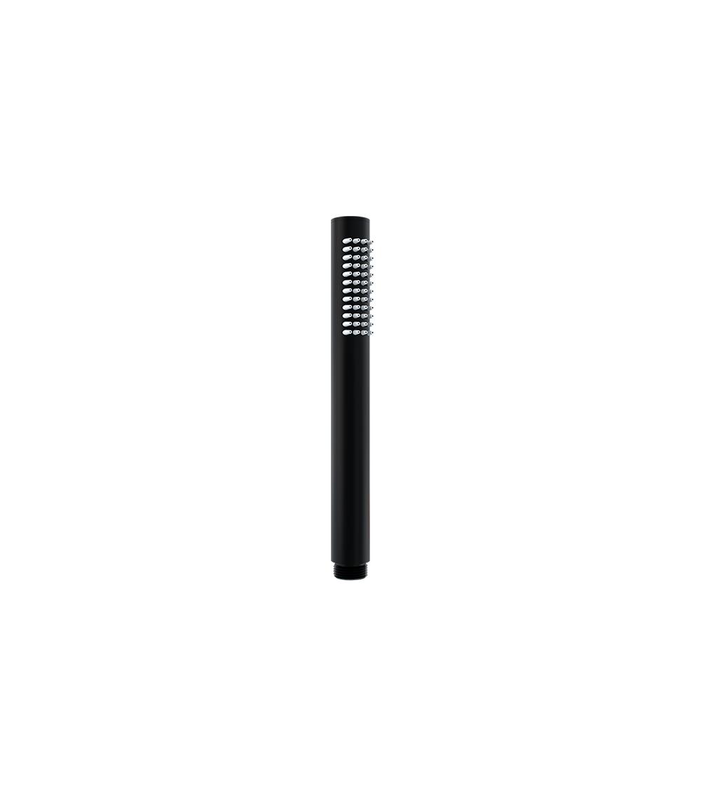 Doccetta in ottone nero opaco monogetto tonda