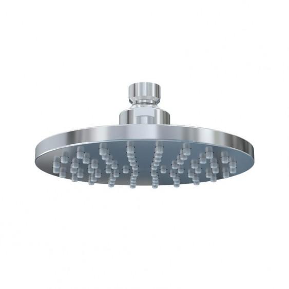 Soffione doccia abs cromato diametro 15 cm monogetto