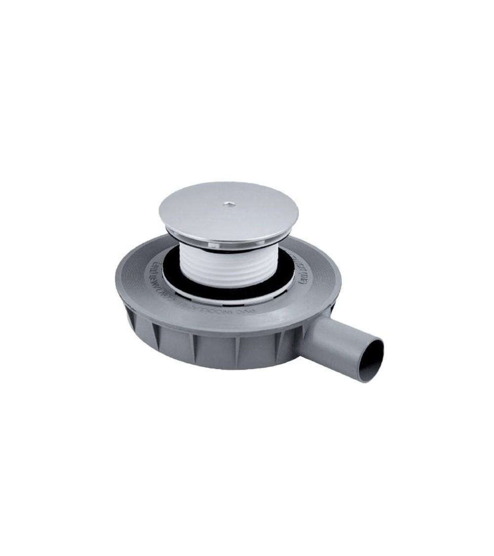 Piletta sifonata per piatto doccia ispezionabile H 45 mm