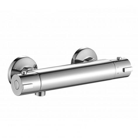 Miscelatore termostatico esterno per doccia ottone cromato Ponsi Dante