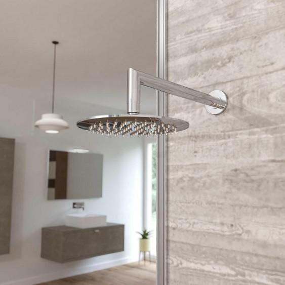 Soffione doccia acciaio inox cromato rotondo diametro 25 cm