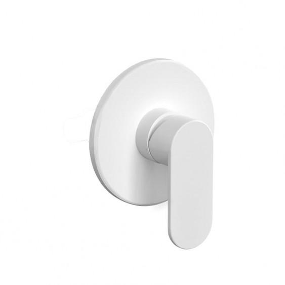 Miscelatore incasso doccia 1 via bianco opaco con piastra tonda