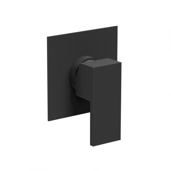 Miscelatore incasso doccia 1 via nero opaco piastra quadrata