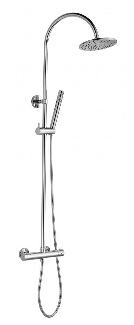 Colonna doccia termostatica ottone cromato Ponsi Dante