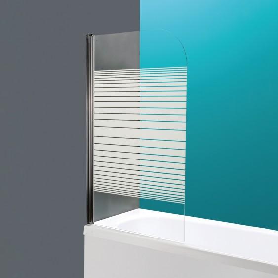 Sopravasca orientabile cristallo serigrafato h140 x 85 cm