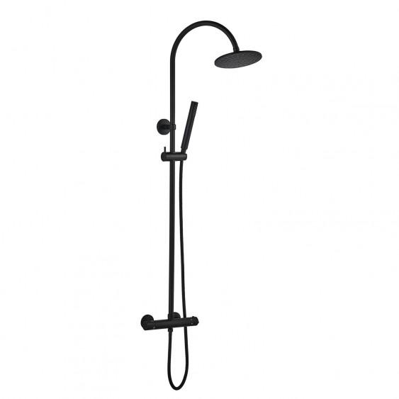 Colonna doccia termostatica ottone nero opaco Ponsi Dante