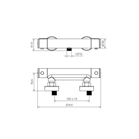 Miscelatore termostatico esterno per doccia