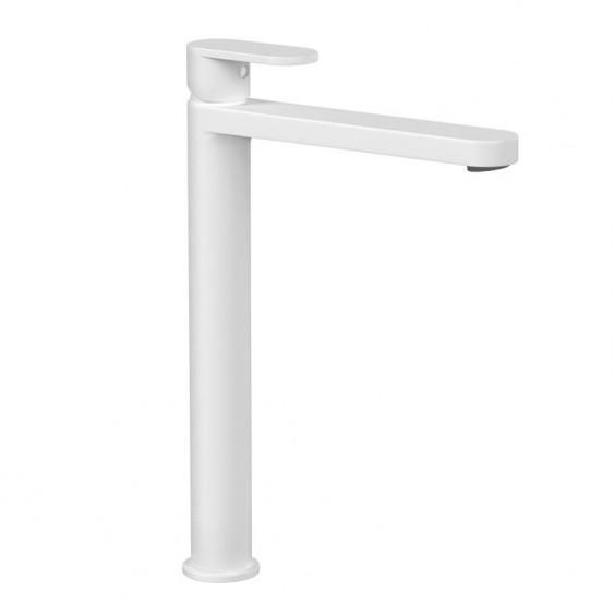 Miscelatore lavabo alto bianco opaco senza scarico