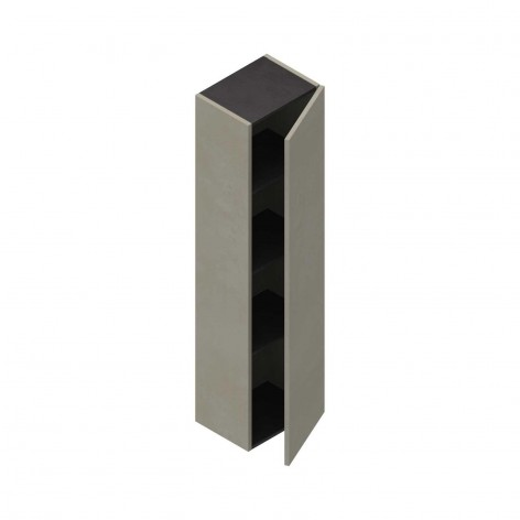 Colonna pensile h 138 cm grigio nuvola 1 anta soft-close reversibile