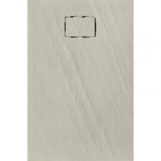 Piatto doccia rettangolare in marmoresina Sabbia 90 x 90 cm
