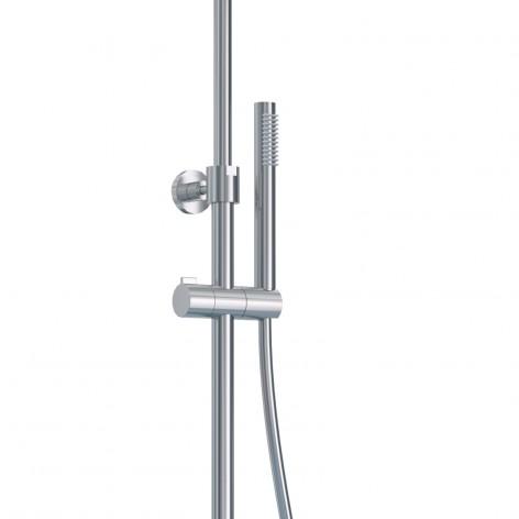 Colonna doccia telescopica termostatica cromata tonda