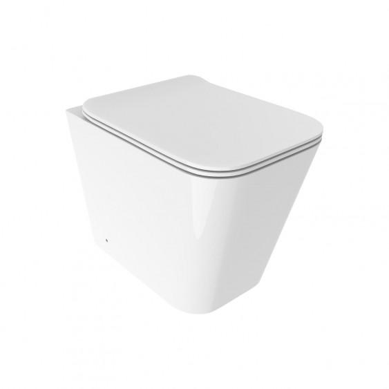Vaso filo parete in ceramica rimless senza brida con sedile avvolgente