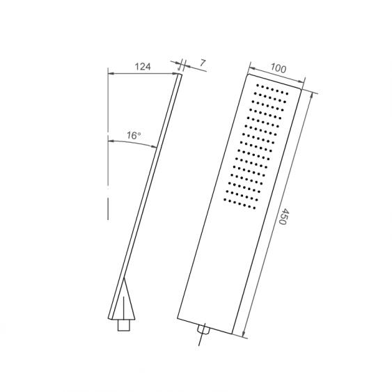 Soluzione doccia completa con soffione effetto pioggia miscelatore a 2 vie e kit doccia